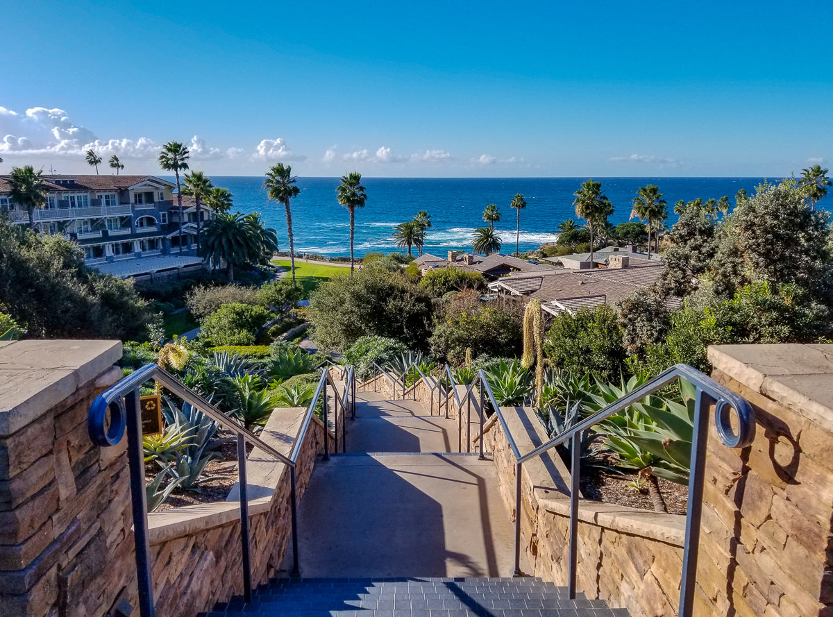 Entrance to the Montage Resort in Laguna Beach, California