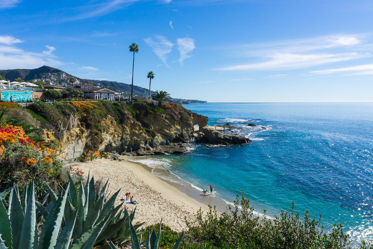 Treasure Island Beach in Laguna Beach Orange County, California