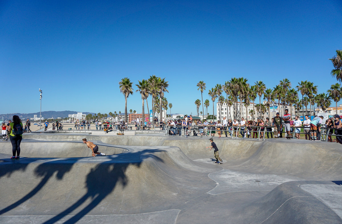 The Skatepark in Venice Beach, California