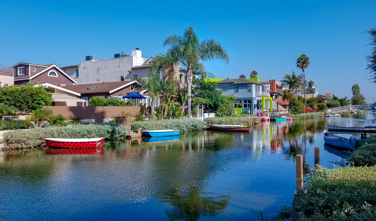 The canals in Venice Beach, California