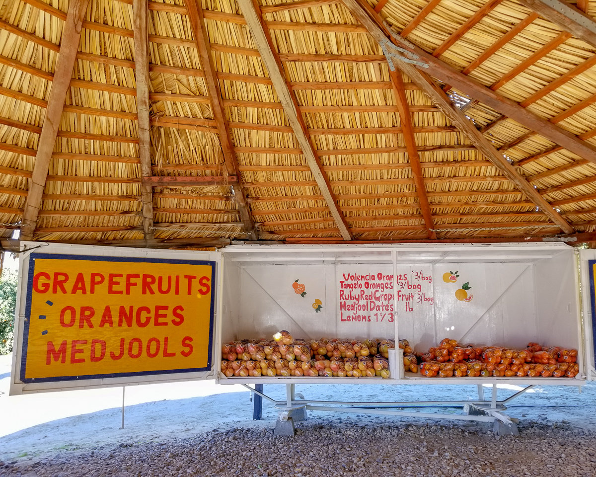 Fruit stand in Borrego Springs, California