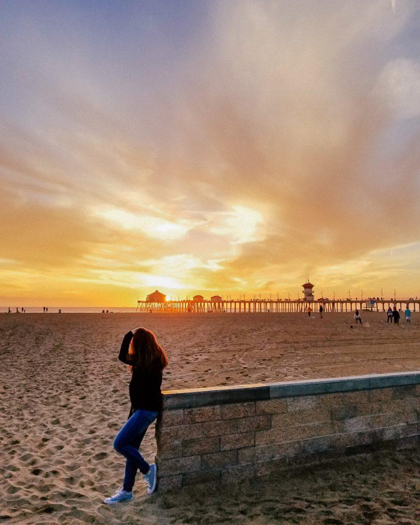 Sunset at the Hungtington Beach Pier