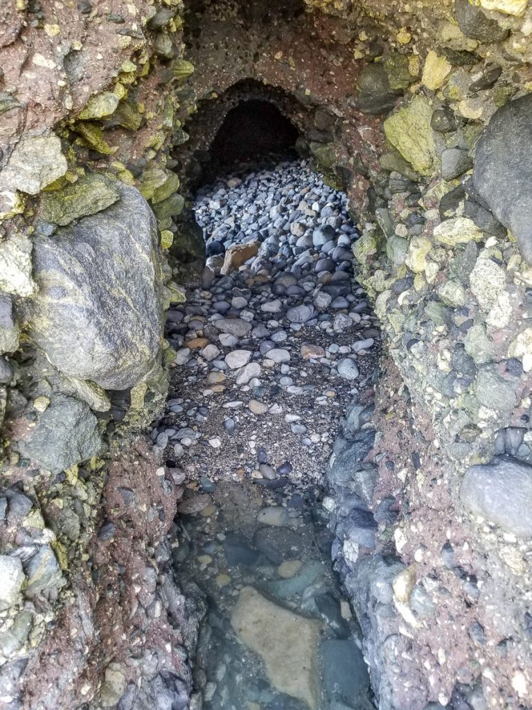 Entrance to the Dana Point Sea Cave