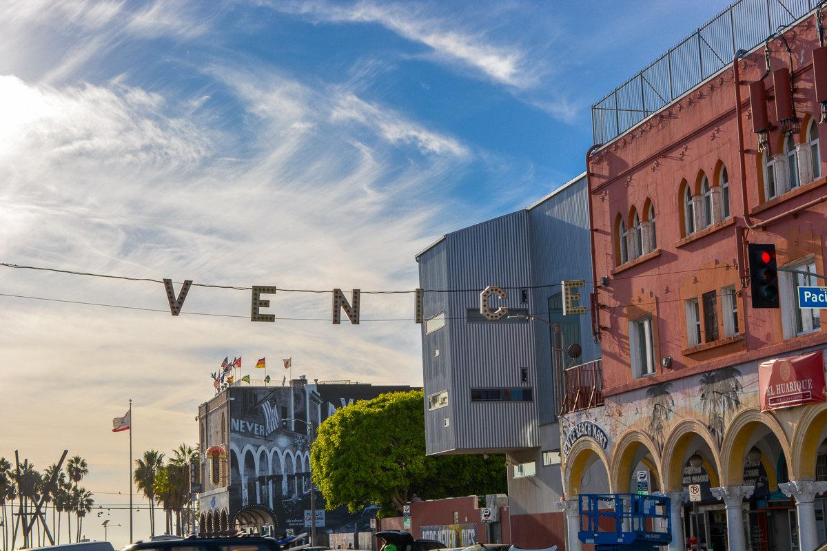 The Venice street sign