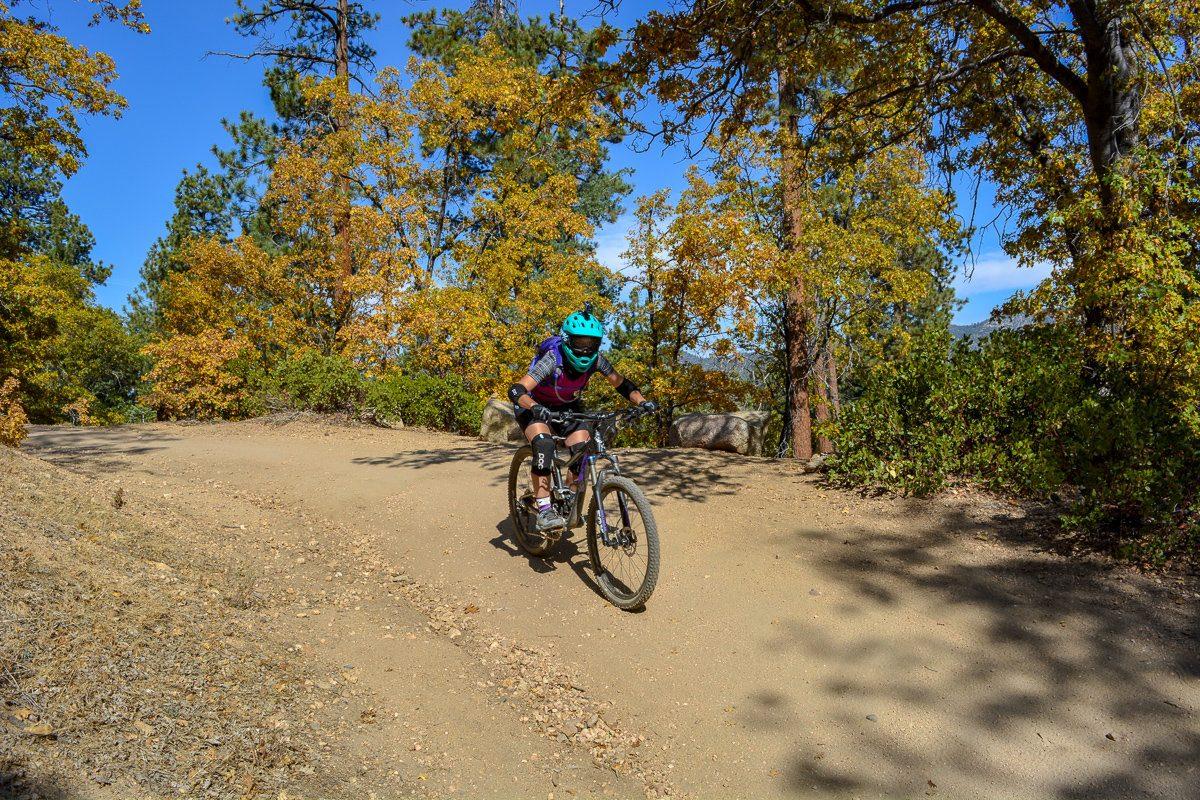 Downhill mountain biking in Big Bear, California