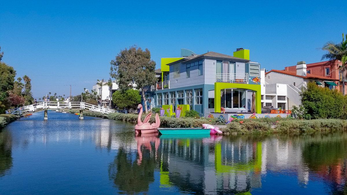 The Venice Canals in Venice Beach, California