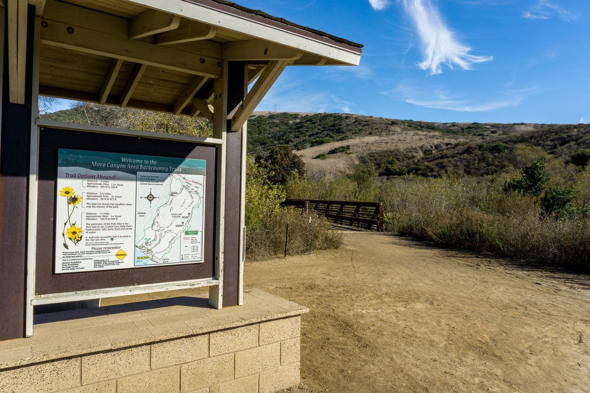 Beginning of the Moro Canyon Hike in Crystal Cove State Park