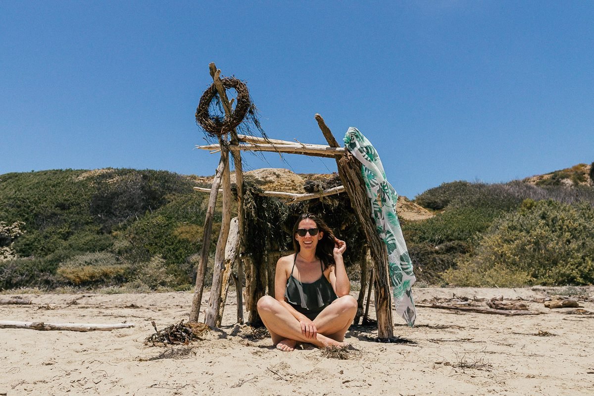 The perfect beach spot in Crystal Cove, California