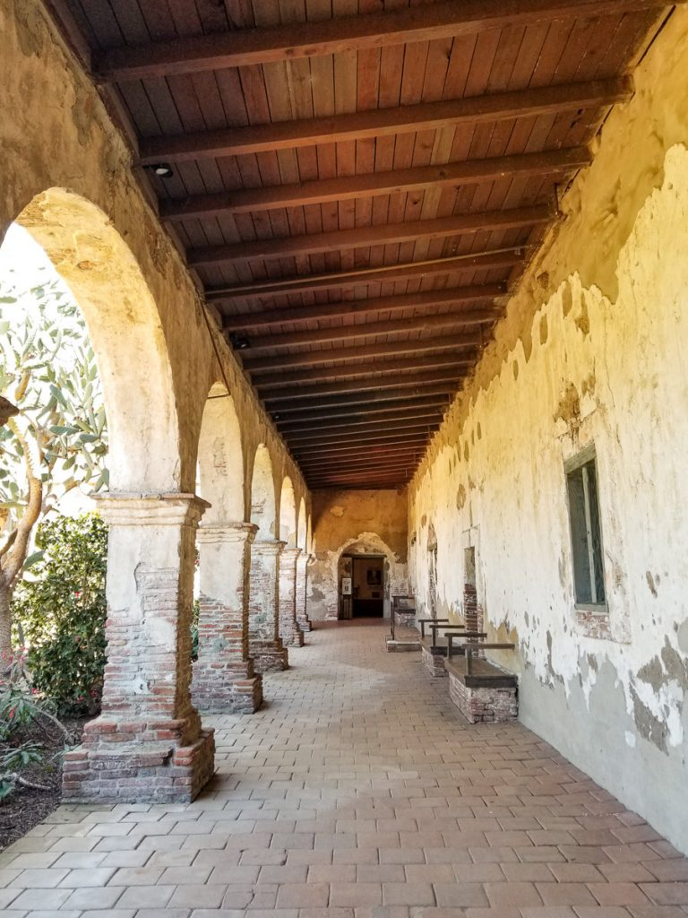 The archways inside of the Mission