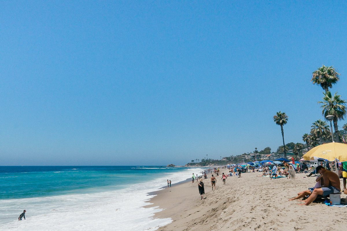 Aliso Beach is a family beach, and the only beach in Laguna that has firepits.