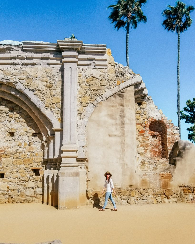 Ruins from an earthquake at Mission San Juan Capistrano