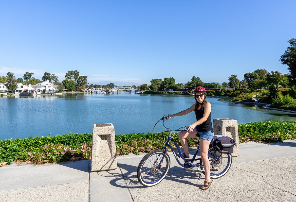 E-biking in Irvine, California
