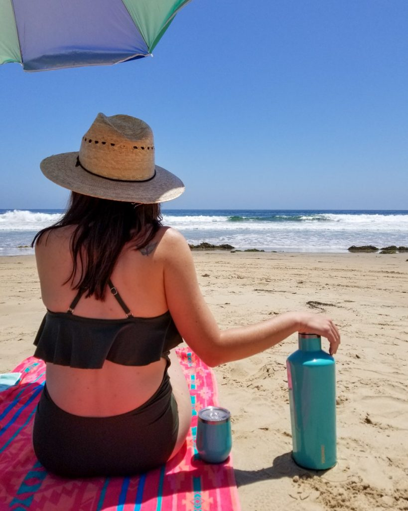 Beach day at Crystal Cove State Park