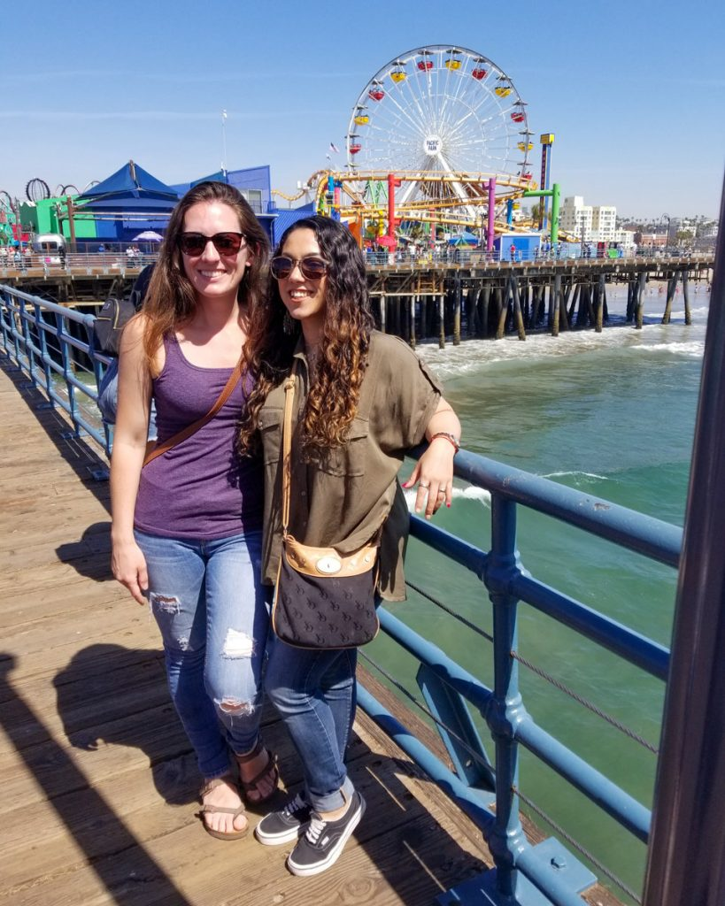 The Santa Monica Pier and Ferris wheel