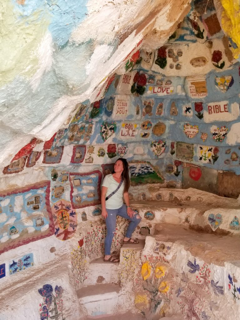 Inside an area of Salvation Mountain