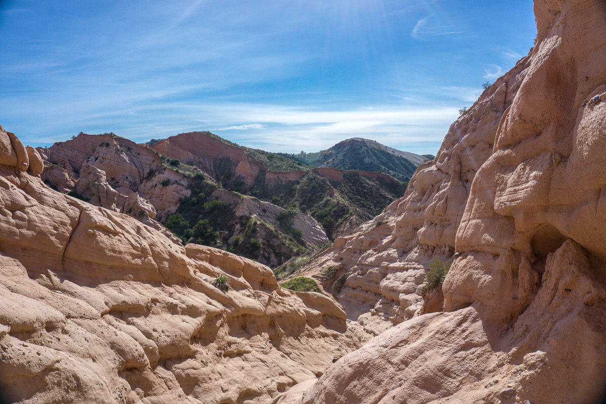View from Red Rock Canyon Trail in Whiting Ranch Wilderness Park