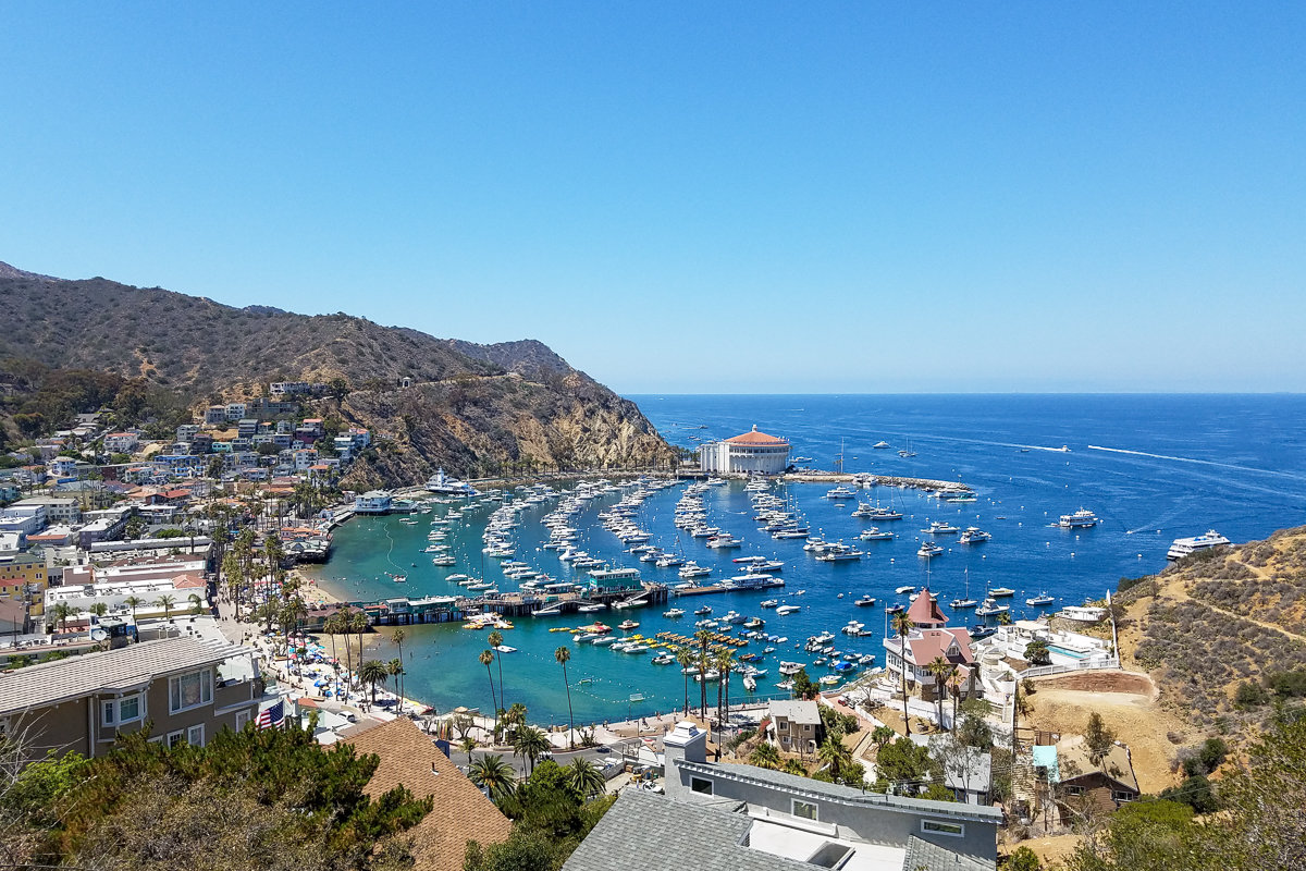 Overview of Avalon in Catalina Island, California