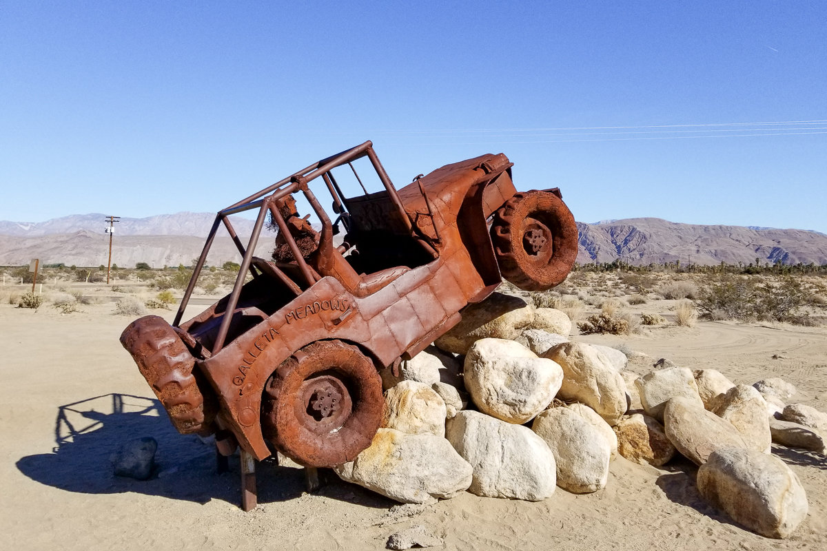 Galleta Meadows metal sculptures in Borrego Springs, California
