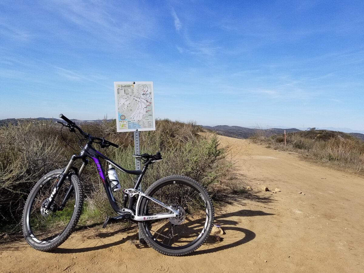 Beginner mountain bike trail