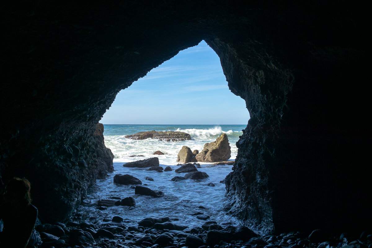 Looking out from the Dana Point Sea Cave