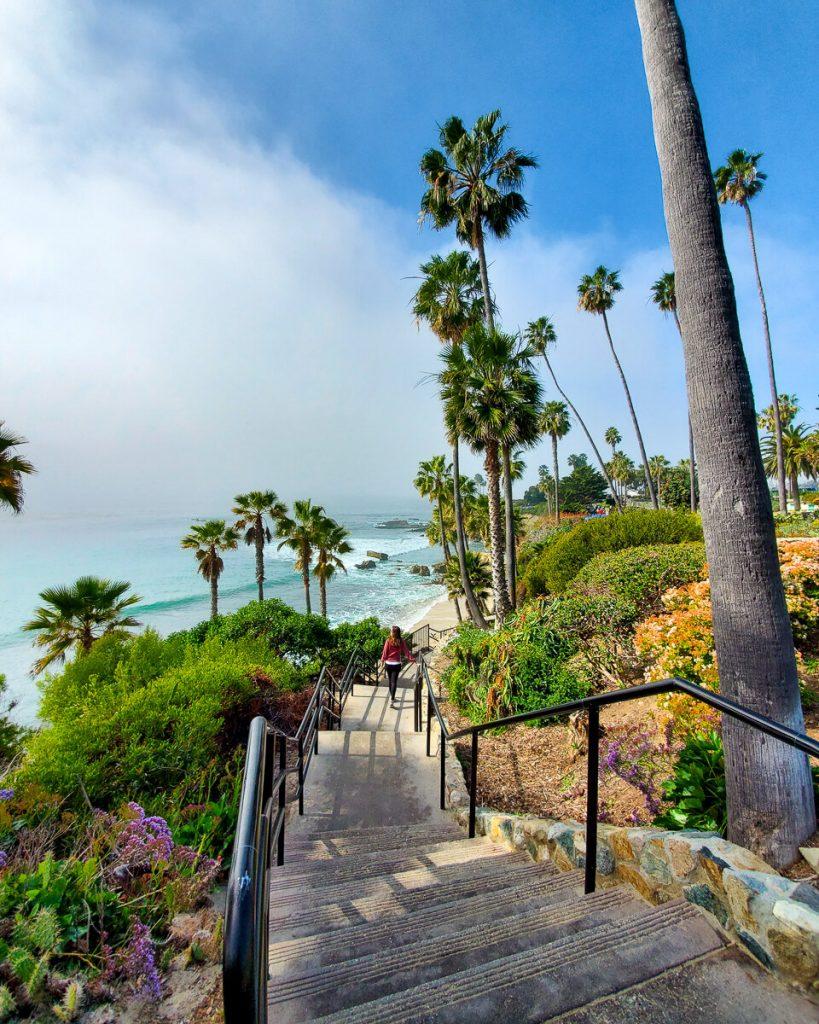 Staircase to the beach in Heisler Park Laguna Beach