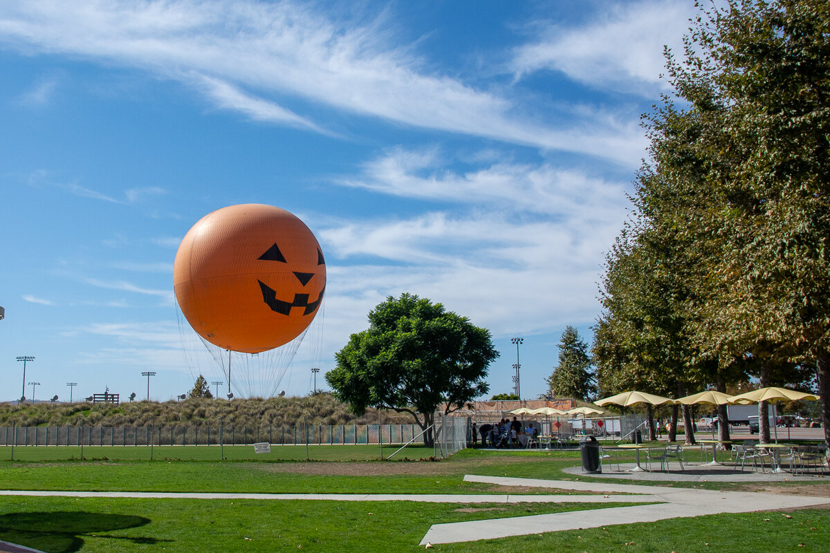 The orange balloon in Irvine's Great Park