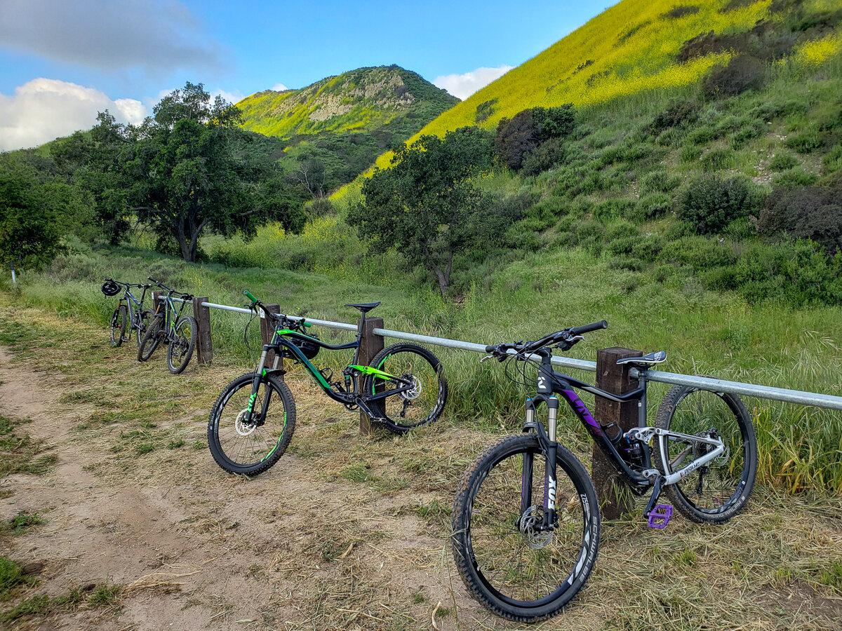 Mountain biking in Limestone Canyon