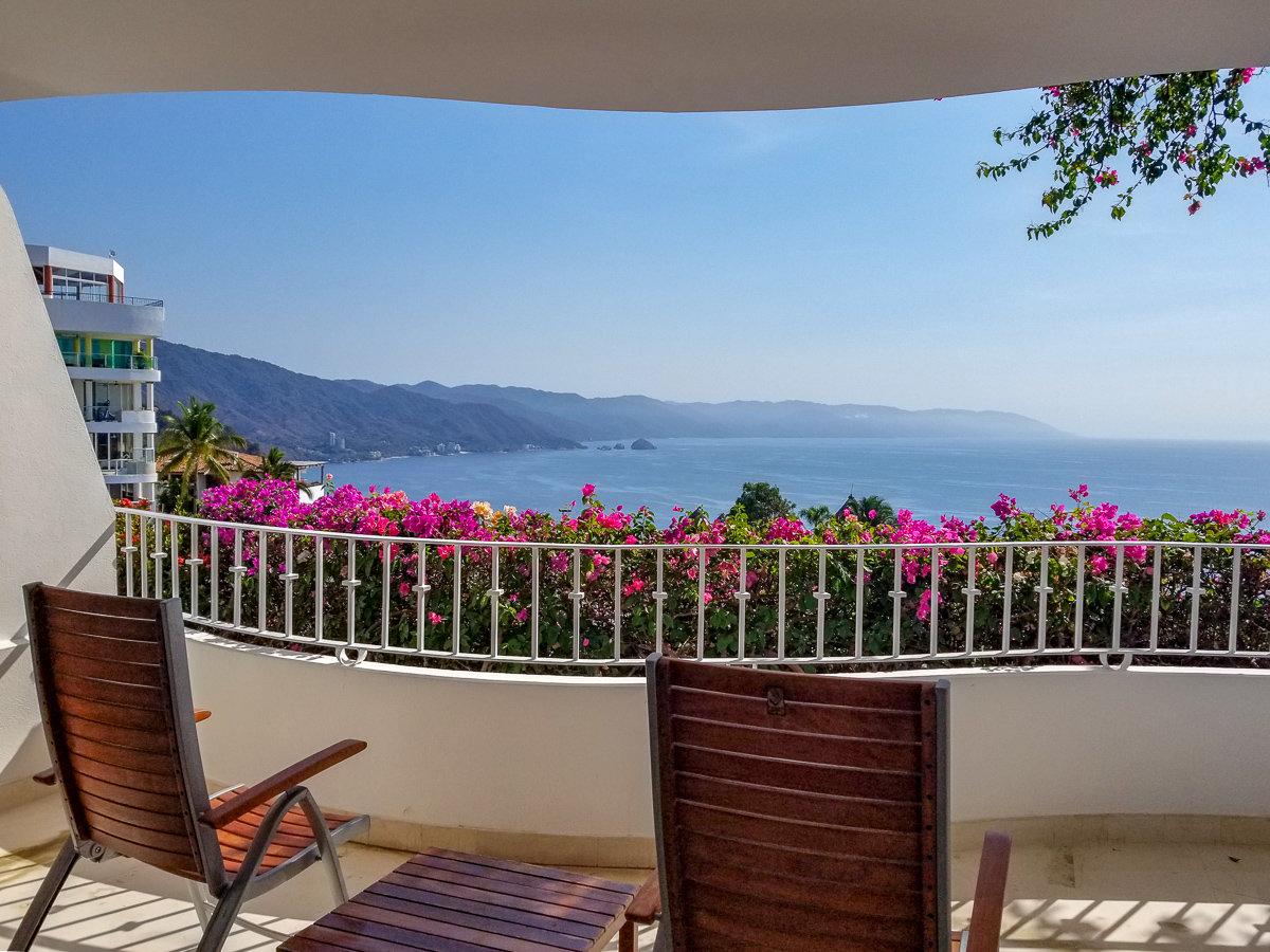 Ocean view from Grand Miramar Resort in Puerto Vallarta. Mexico