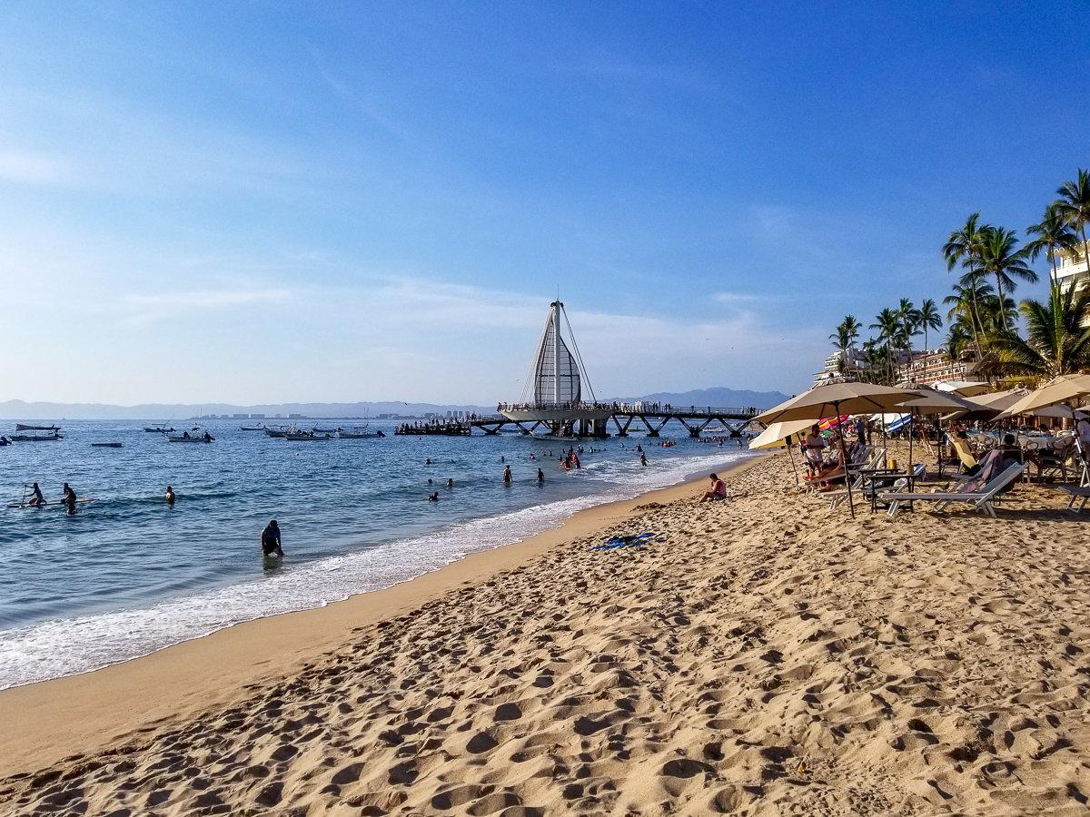 Los Muertos Beach in Puerto Vallarta, Mexico
