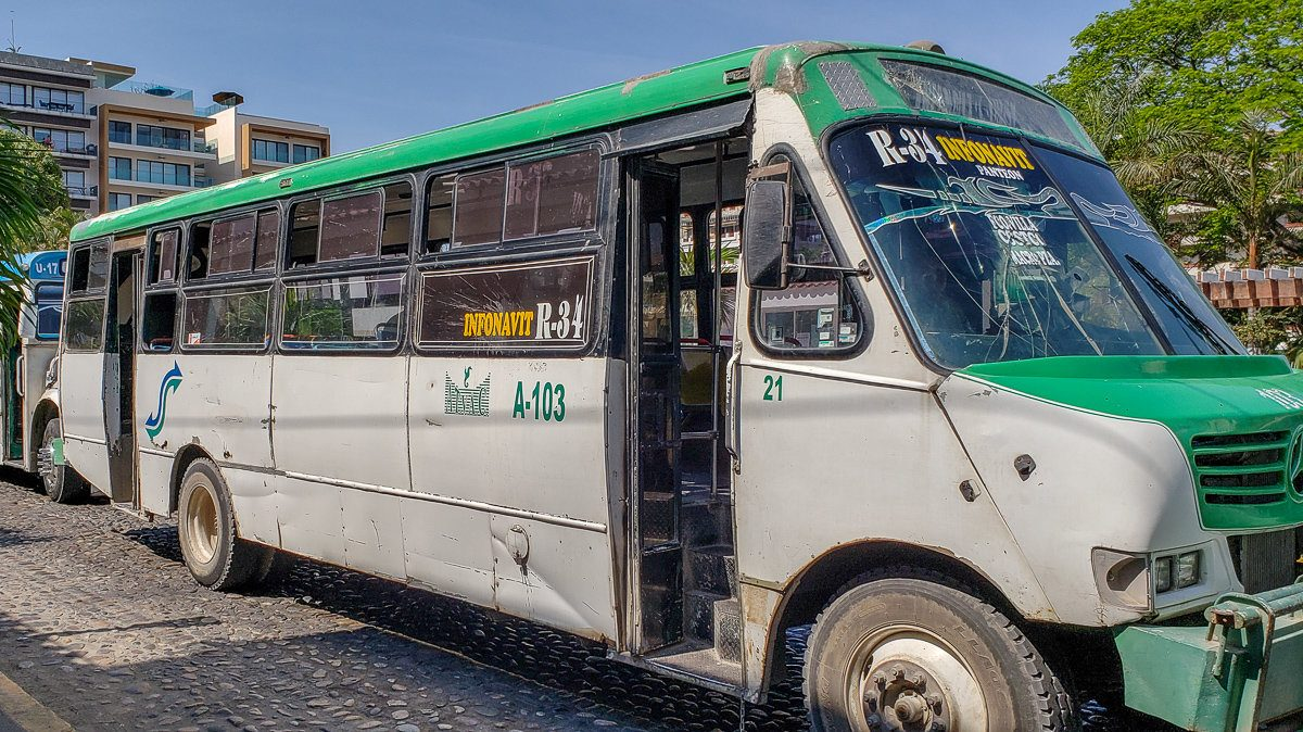 Buses in Puerto Vallarta, Mexico
